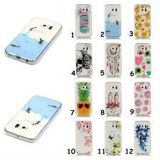 Slim Clear Soft TPU IMD HD Patterned Silicone Cover Back Case For Samsung Galaxy