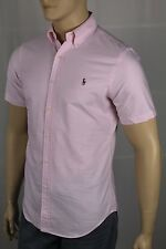 Ralph Lauren Pink Striped Slim Fit Oxford Dress Shirt Multi Colored Pony NWT