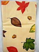 Assorted Sizes Red Orange Green Brown Autumn Fall Leaves Beige Vinyl Tablecloth