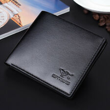 Mens Luxury Leather Credit Card Holder Wallet Bifold ID Cash Coin Purse Clutch #