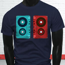 3D CASSETTE TAPE RETRO HIP HOP MIX TAPE RAP 90S Mens Navy T-Shirt