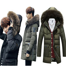 Fashion Mens Duck Down Coat Thick Warm hooded Winter Parka long Jacket Outwear
