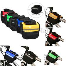 HOT Bicycle Bike Cycling Frame Pannier Saddle Front Tube Bag Double Side Pouch