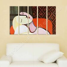 Synthetic CANVAS +GIFT The Dream Pablo Picasso 5 Panels Paintings Giclee