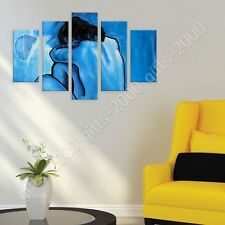 Synthetic CANVAS +GIFT Blue Nude Pablo Picasso 5 Panels Giclee Poster Prints