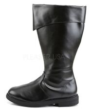 Funtasma Pirate Captain Cosplay Cuffed Boots Black 8 9 10 11 12 13 14