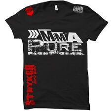MMA Pure Fight Gear Shorts Sleeve T Shirt MMA UFC Muay Thai W Tapout Sticker 01