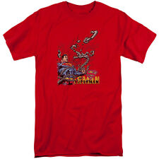 Superman Breaking Chains Mens Big and Tall Shirt