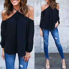 Hot Sexy Lady Off-shoulder Long Sleeve Sexy Top Blouse T-shirt Summer Shirt Tops