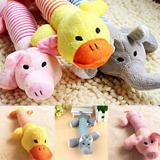 Pet Puppy Dog Cat Toy Plush Sound Chew Squeaker Pig Elephant Duck Squeaky Toys