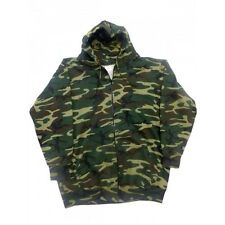 USA Camo Zip front Fleece Sweatshirt w/2 Pouch front pockets 8860C