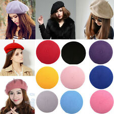 Hot !Stylish Women Wool Warm Felt French Beret Beanie Hat Cap Tam Hot 10 Colors