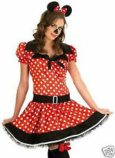 Sexy Minnie Costume Womens Halloween Fairy Tale Mouse Fancy Dress Costume