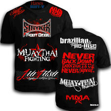 Stryker Walk Out T-Shirt Sponsored MMA UFC Fighter BJJ Top W FREE Tapout Sticker