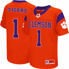 Colosseum #1 Clemson Tigers Youth Orange Football Jersey
