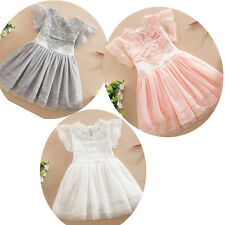 Princess Baby Kid Girl Tutu Lace Flloral Tutu Dress Toddler Party Wedding Dress
