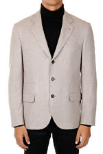 BRUNELLO CUCINELLI men Cashmere Blend Single Breasted Jacket Beige Made in Italy