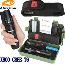 Bright 5000LM XML T6 LED 26650 AAA Flashlight+18650 Battery+Charger+Case+Pouch