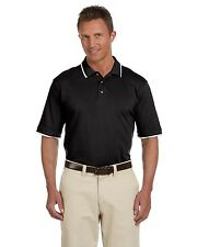 New Harriton Mens S/S w/ Tipping Pique Polo Shirt Big Sizes Only