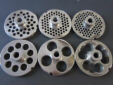 PICK YOUR SIZE #12 S/Steel Meat Grinder Plate w/ HUB Northern tool MTN Weston