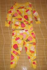Baby Gap Long Sleeve Pajama Ice Cream Cone Yellow Summer 2T