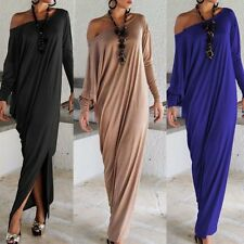Sexy Women's Oversized Loose Maxi Dress Long Sleeve Casual Party Tunic Dress Hot