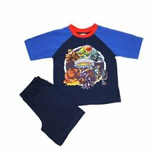BRAND NEW - Boys Skylanders Giants short Shorty pyjamas - BLUE / RED COLLAR