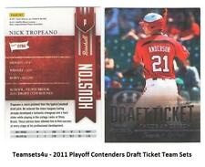 2011 Playoff Contenders (Draft Ticket) Baseball Sets ** Pick Your Team Set **