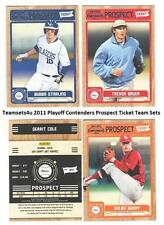 2011 Playoff Contenders (Prospect Ticket) Baseball Sets ** Pick Your Team Set **
