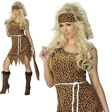 Cavewoman Ladies Costume Historial Fancy Dress Outfit Sizes 8/18