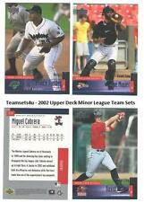 2002 Upper Deck Minor League Baseball Team Sets ** Pick Your Team Set **