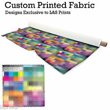 COLOURFUL PIXELATED FABRIC PER METRE LYCRA SPANDEX JERSEY FROM L&S PRINTS