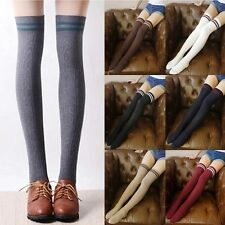Womens Girls Sexy Cotton High Socks Thigh High Hosiery Stockings Over The Knee Y