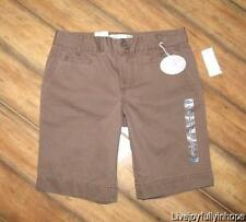 OLD NAVY ~ NEW! NWT Size 2 ~ Milk Chocolate Cotton BERMUDA LENGTH Summer Shorts