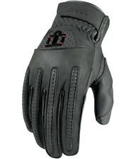 ICON GREY RIMFIRE ADULT MOTORCYCLE GLOVES ALL SIZES