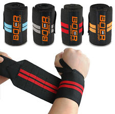 WEIGHT LIFTING HAND BAR GRIP STRAPS GYM BODYBUILDING WRIST SUPPORT WRAPS BANDAGE