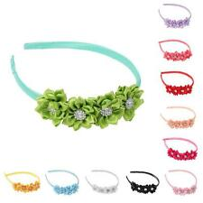 1pcs Cute Kids Girls Baby Toddler Flower Bow Headband Hair Band Headwear Colors