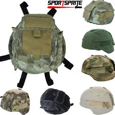 Military Hunting Helmet Cover W/Pouch for MICH TC-2000 ACH Helmet For Airsoft