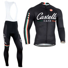 New Outdoor Sports Wear Bike Long Sleeve Mens Cycling Suits Jerseys Bib Pants