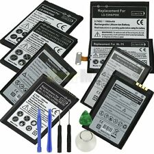 High-Capacity Rechargeable Lithium-ion Battery for LG G3 G4 Nexus 4 + Tools USA