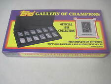 SEALED 1988 TOPPS GALLERY OF CHAMPIONS COLLECTION 12 ALUMINUM BASEBALL CARDS BOX