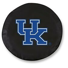 Kentucky Wildcats Cat Black Vinyl Fitted Spare Car Tire Cover