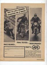 AJS Motorcycle Original Advertisement removed from a Magazine A.M.C. A.J.S.