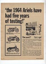 Ariel Motorcycle Original Advertisement removed from a magazine Arrow Leader