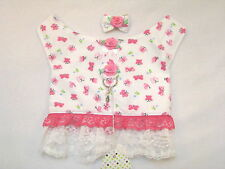 Pink Butterfly XS M Dog Harness Lace Vest Hairbow Charm Yorkie Maltese ShihTzu