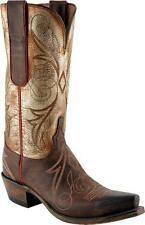 LADIES LUCCHESE WESTERN BOOTS BRONZE W/ INTRICATE STITCHING N4701.54 SALE!