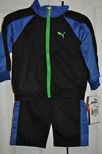 NWT Baby Boy PUMA 2 PC Track Jogging Suit Jacket Pants Set 12M 12 Month NEW
