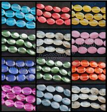 "Genuine 13x18mm Colorful Jade/Opal/Gemstones Oval Loose Beads 15"" Strand"
