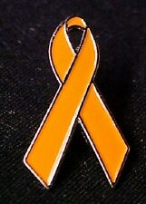Orange Ribbon Awareness Pin Many Cancer Causes Multiple Sclerosis Melanoma Lupus