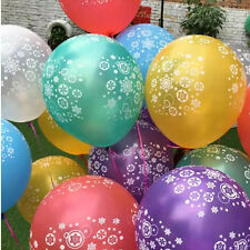 50PCS Christmas Latex Balloons Party Supplies Decorations Frozen Snowflake New